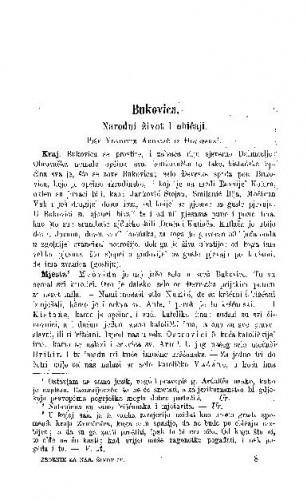 Bukovica : narodni život i običaji / V. Ardalić