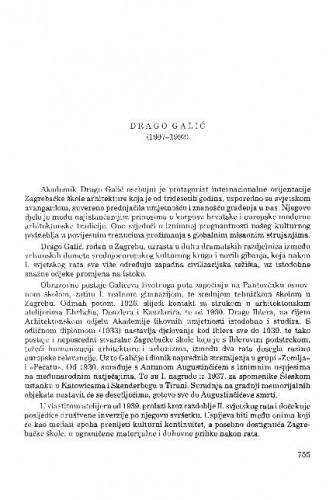 Drago Galić (1907-1992) / Velimir Neidhardt