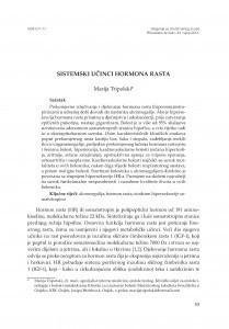 Sistemski učinci hormona rasta / Marija Tripolski