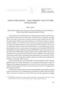Avian influenza - past, present and future challenges / Ilaria Capua