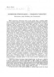 Hijeronim Stridonjanin : građanin Tarsatike / Mate Suić