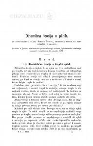 Dinamična teorija o plinih / S. Šubić