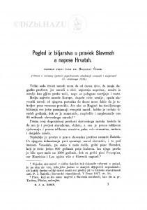 Pogled iz biljarstva u praviek Slavenah a napose Hrvatah / B. Šulek