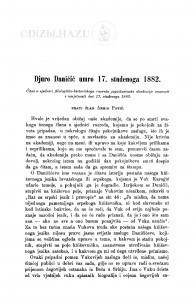Djuro Daničić umro 17. studenoga 1882 / A. Pavić