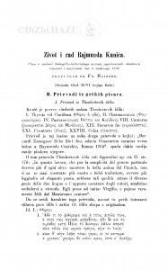 Život i rad Rajmunda Kunića : (ostatak) / F. Maixner