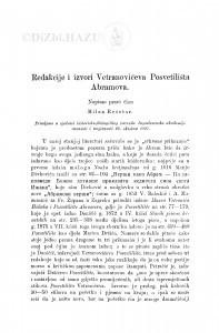 Redakcije i izvori Vetranovićeva Posvetilišta Abramova / M. Rešetar