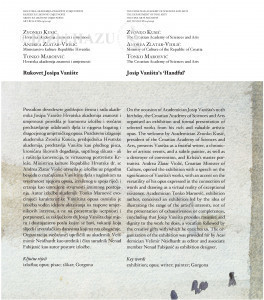 Rukovet Josipa Vanište = Josip Vaništa's