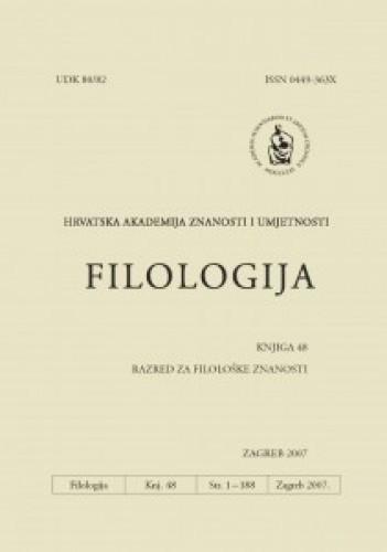 Knj. 48(2007) / glavni i odgovorni urednik Dalibor Brozović