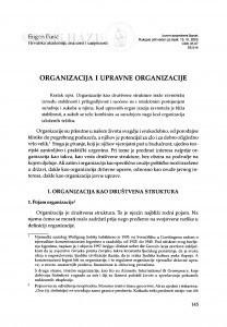 Organizacija i upravne organizacije / Eugen Pusić