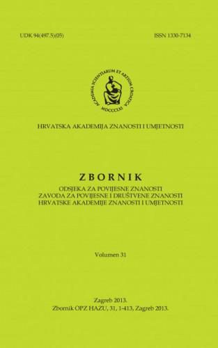 Vol. 31 (2013) ; glavni i odgovorni urednik Tomislav Raukar