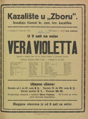 Vera Violetta Opereta u jednom činu
