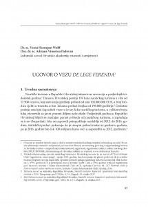 Ugovor o vezu de lege ferenda : [uvodno izlaganje] / Vesna Skorupan Wolff, Adriana Vincenca Padovan