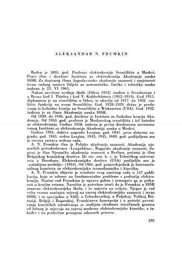 Aleksandar N. Frumkin