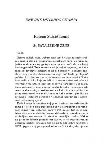 24 sata jedne žene / Helena Sablić Tomić