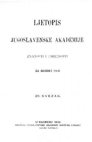 Za godinu 1908. Sv. 23