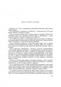 Ben R. Mottelson : [biografije novih članova Akademije]