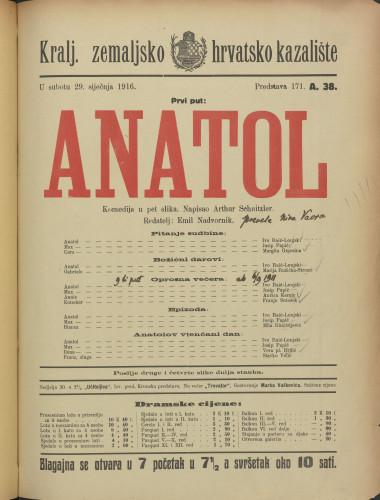 Anatol Komedija u pet slika
