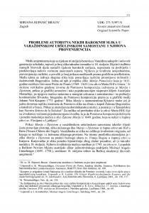 Problemi autorstva nekih baroknih slika u varaždinskom Uršulinskom samostanu i njihova provenijencija
