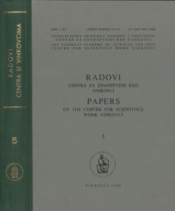 [Sv.] 5(1984) / urednici Dušan Klepac, Marijan Matković, Dionizije Švagelj