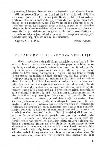 Ponad crvenih krovova Venecije / Ljubo Babić