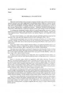 Minerali Ivanščice / Davorin Zagorščak