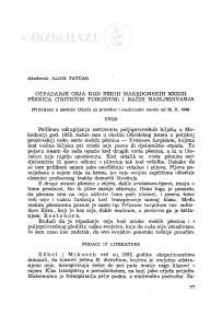 Otpadanje osja kod nekih makedonskih mekih pšenica (Triticum turdigum) i način nasljeđivanja / A. Tavčar