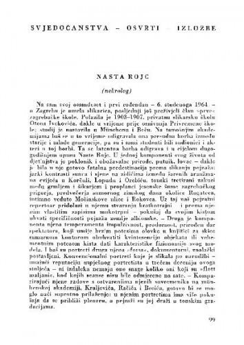 Nasta Rojc = (nekrolog) / Zd. Šenoa
