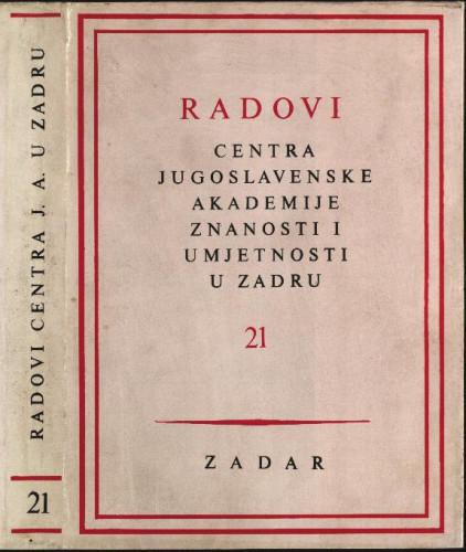 Sv. 21(1974) / uredili Grga Novak i Vjekoslav Maštrović