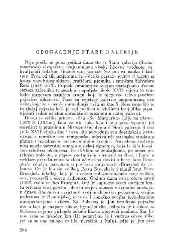 Obogaćenje Stare galerije / Lj. B.
