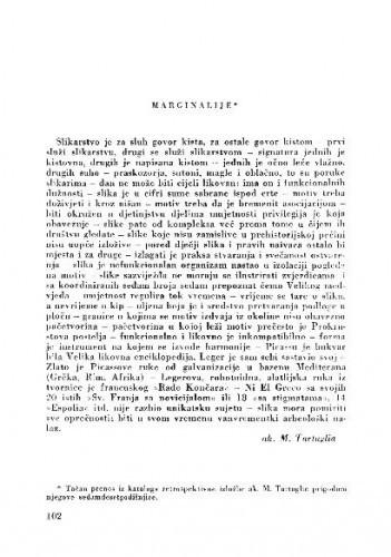 Marginalije / M. Tartaglia