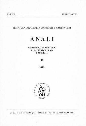 Sv. 16 (2000) / urednici Dragan Dekaris, Julijo Martinčić