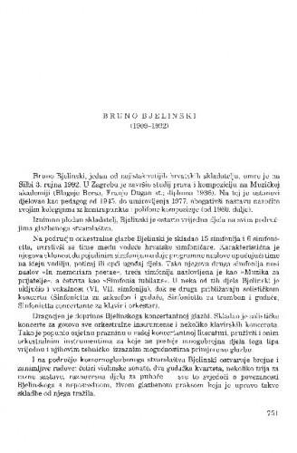 Bruno Bjelinski (1909-1992) / Koraljka Kos