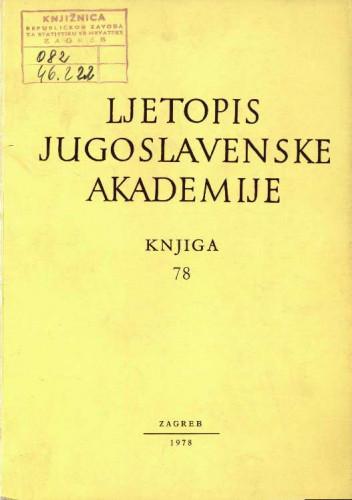 1973. i 1974. Knj. 78 / urednik Mirko Malez