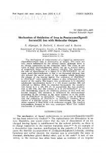 Mechanism of oxidation of iron in pentacyano(ligand)ferrate(II) ion with molecular oxygen / S. Ašperger, D. Pavlović, I. Murati, A. Šustra