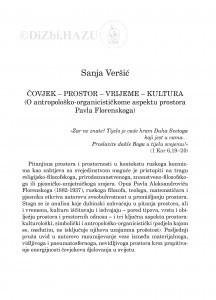 Čovjek-prostor-vrijeme-kultura : (o antropološko-organicističkome aspektu prostora Pavla Florenskoga) / Sanja Veršić