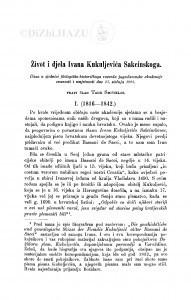 Život i djelo Ivana Kuljevića Sakcinskoga / T. Smičiklas