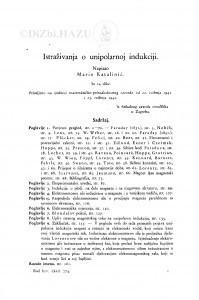 Istraživanja o unipolarnoj indukciji / Marin Katalinić