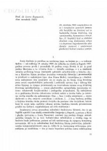 Komemoracija održana 13. siječnja 1983. u palači Jugoslavenske akademije znanosti i umjetnosti : [govor] / L. Županović