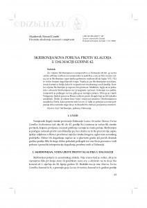 Skribonijanova pobuna protiv Klaudija u Dalmaciji godine 42. / Nenad Cambi