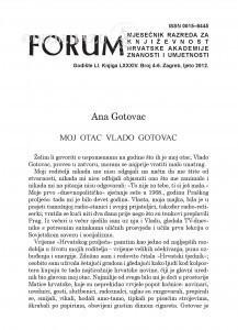Moj otac Vlado Gotovac / Ana Gotovac