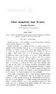 Prilozi entomološkoj fauni Hrvatske : kornjaši Hrvatske / A. Langhoffer