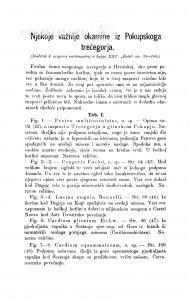 Njekoje važnije okamine iz Pokupskoga trećegorja : (dodatak razpravi naštampanoj u knjigi XXV.
