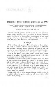 Dvadeset i treće potresno izvješće za g. 1905. / M. Kišpatić