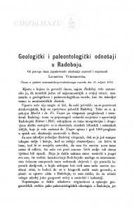 Geologički i paleontologički odnošaji u Radoboju / Lj. Vukotinović