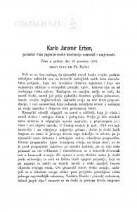 Karlo Jaromir Erben : [nekrolog.] / F. Rački