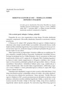 Mirovni ugovor iz 1947. - temelj za dobre odnose s Italijom / Davorin Rudolf