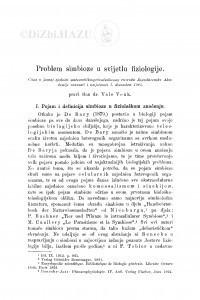 Problem simbioze u svijetlu fiziologije / V. Vouk