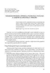 Nekoliko primjera oporuka plemkinja i pučanki u vrijeme klasicizma u Trogiru / Fani Celio Cega