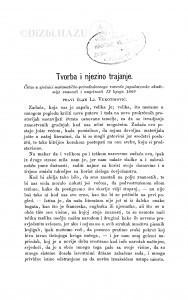 Tvorba i njezino trajanje / Lj. Vukotinović