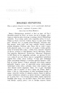 Bosanske stupnjevine / P. Matković